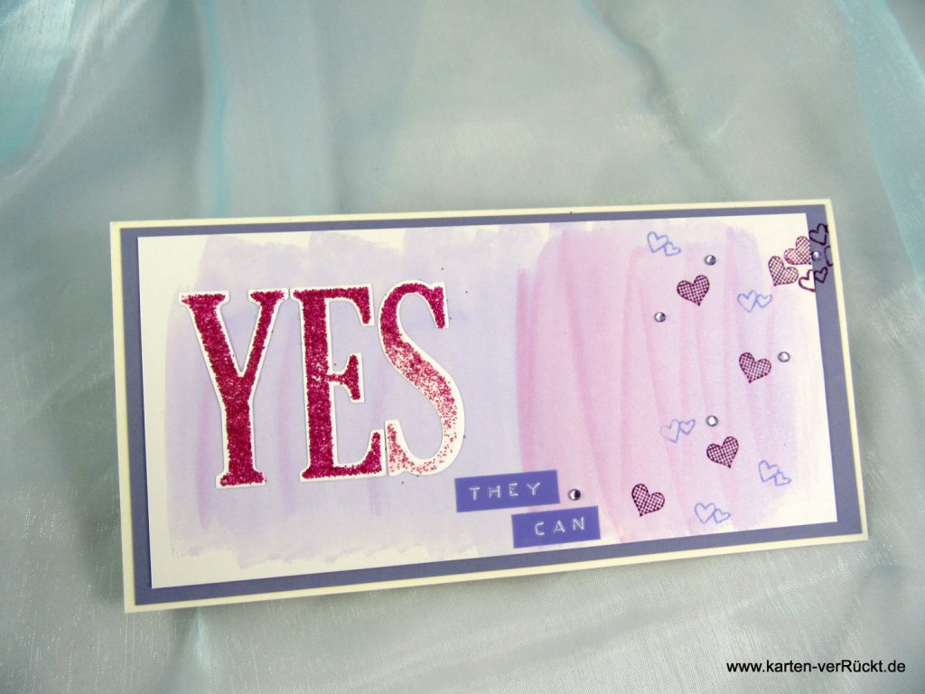 Yes They Can Hochzeitskarte