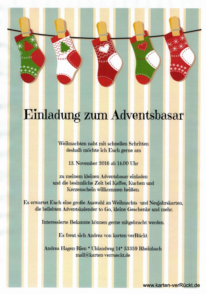 Adventsbasar 2016